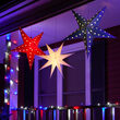 Battery Operated Blue Aurora Superstar TM 5 Point Star Light, Fold-Flat, LED Lights