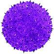 """7.5"""" Purple Starlight Sphere Stake"""