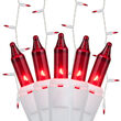 150 Red Mini Icicle Lights on White Wire