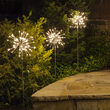 Silver Starburst Lighted Branches on Stakes, Warm White LED, Set of 3