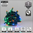 """Kringle Traditions 5mm Multicolor LED Christmas Lights, Green Wire, 6"""" Spacing, Balled Set"""