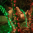 5mm Wide Angle Red LED Christmas Lights on Green Wire