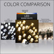 5mm Wide Angle Warm White LED Christmas Lights on Brown Wire