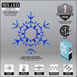 Folding Snowflake, Blue and Cool White Lights