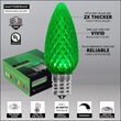 C9 Green OptiCore Commercial LED Christmas Lights, 25 Lights, 25'
