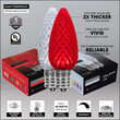 C9 Red / Cool White Opticore TM Commercial LED Christmas Lights, 50 Lights, 50'