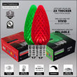 C9 Green / Red OptiCore Commercial LED Christmas Lights, 50 Lights, 50'