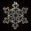 """24"""" 30 Point Snowflake with Controller, Blue and Clear Lights"""