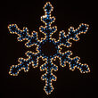 """26"""" Star Flower Snowflake, Blue and Clear Lights"""