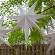 White Aurora Superstar TM Bethlehem Star Light, Fold-Flat, LED Lights, Outdoor Rated