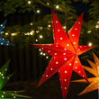 Red Aurora Superstar TM 7 Point Star Light, Fold-Flat, LED Lights, Outdoor Rated