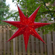 """24"""" Red Aurora Superstar TM 7 Point Star Light, Fold-Flat, LED Lights, Outdoor Rated"""