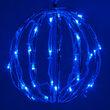 "8"" Blue LED Light Ball, Fold Flat Blue Frame"
