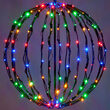 Multicolor LED Light Ball, Fold Flat Black Frame