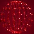 "16"" Red LED Fairy Light Ball, Fold Flat Red Frame"