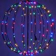 Multicolor LED Fairy Light Ball, Fold Flat Black Frame