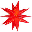 "17"" Red Aurora Superstar TM Folding Star Light, Fold-Flat, LED Lights, Outdoor Rated"
