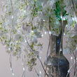 White Lighted Willow Falling Branches, Cool White LED