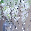 "36"" Silver Lighted Willow Falling Branches, Cool White LED, Twinkle"