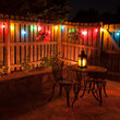 10' Multicolor FlexFilament Shatterproof LED Patio String Light Set with 10 G50 Bulbs on Black Wire, E17 Base