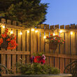 Warm White FlexFilament TM Shatterproof LED Patio String Light Set with G50 E17 - Intermediate Bulbs on White Wire