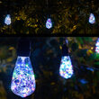 RGB Color Change LEDimagine TM Patio String Light Set with ST64 Fairy Light Bulbs on Black Wire with Drops
