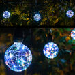 RGB Color Change LEDimagine TM Patio String Light Set with G95 Fairy Light Bulbs on Black Wire with Drops