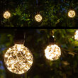 Warm White LEDimagine TM Patio String Light Set with G95 Fairy Light Bulbs on Black Wire with Drops
