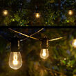Warm White FlexFilament TM LED Patio String Light Set with S14 Bulbs on Black Wire