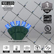 4' x 6' Blue 5mm LED Christmas Net Lights, 100 Lamps on Green Wire
