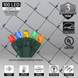 4' x 6' Multicolor 5mm LED Christmas Net Lights, 100 Lights on Green Wire