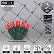 4' x 6' Red 5mm LED Christmas Net Lights, 100 Lamps on Green Wire
