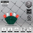4' x 6' Red, Cool White Twinkle 5mm LED Christmas Net Lights, 100 Lights on Green Wire