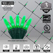 4' x 6' Green M5 LED Christmas Net Lights, 100 Lights on Green Wire
