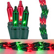 9' Garland Lights, 300 Red/Green Lamps, Green Wire
