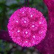 "6"" Pink LED Starlight Sphere, 70 Lights"