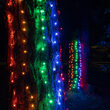 2' x 6' Multicolor 5mm LED Christmas Trunk Wrap Lights, 100 Lights on Green Wire