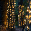 2' x 6' Warm White 5mm LED Christmas Trunk Wrap Lights, 100 Lamps on Brown Wire