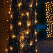 2' x 8' Clear Mini Christmas Trunk Wrap Lights, 100 Lights on Brown Wire