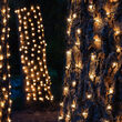 2' x 8' Clear Mini Christmas Trunk Wrap Lights, 100 Lights on Green Wire