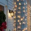 "6"" x 15' Clear Mini Christmas Column Wrap Lights, 150 Lights on White Wire"
