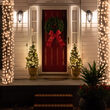 "6"" x 15' White Frost Mini Christmas Column Wrap Lights, 150 Lights on White Wire"