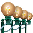G50 Warm White FlexFilament Shatterproof Garden LED Pathway Lights, 25 Lights, 7.5 Inch Stakes, 25'