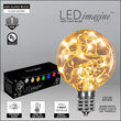 G50 Warm White LEDimagine TM Fairy Light Bulb Pathway Lights, 25 Lights, 7.5 Inch Stakes, 25'