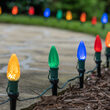 C9 Multicolor OptiCore Christmas LED Pathway Lights, 25 Lights, 4.5 Inch Stakes, 25'