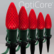 C9 Red OptiCore Christmas LED Pathway Lights, 25 Lights, 4.5 Inch Stakes, 25'