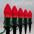 C7 Red OptiCore Christmas LED Pathway Lights, 25 Lights, 4.5 Inch Stakes, 25'