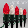 C7 Red / Warm White OptiCore Christmas LED Pathway Lights, 50 Lights, 4.5 Inch Stakes, 50'