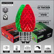C7 Green / Red OptiCore TM Christmas LED Pathway Lights