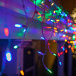 50 Multicolor Color Change M5 LED Icicle Lights on White Wire